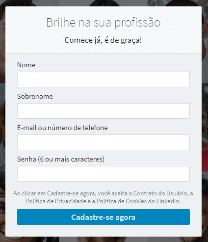 criar conta no linkedin - linkedin para empresas