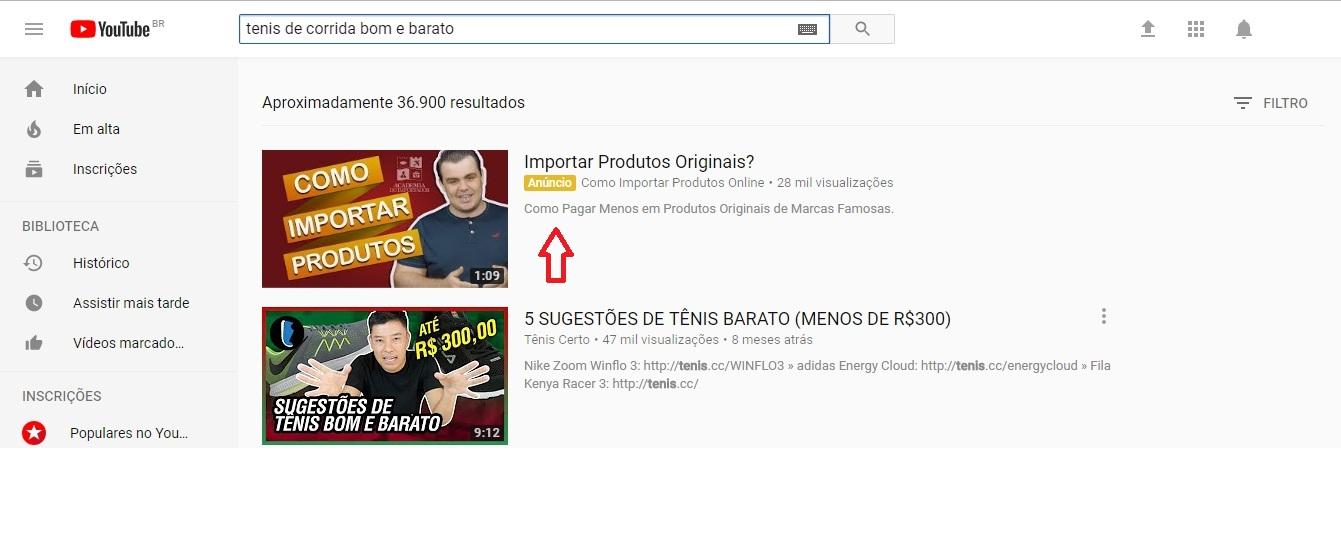 Anúncios Google e Youtube - Pesquisa