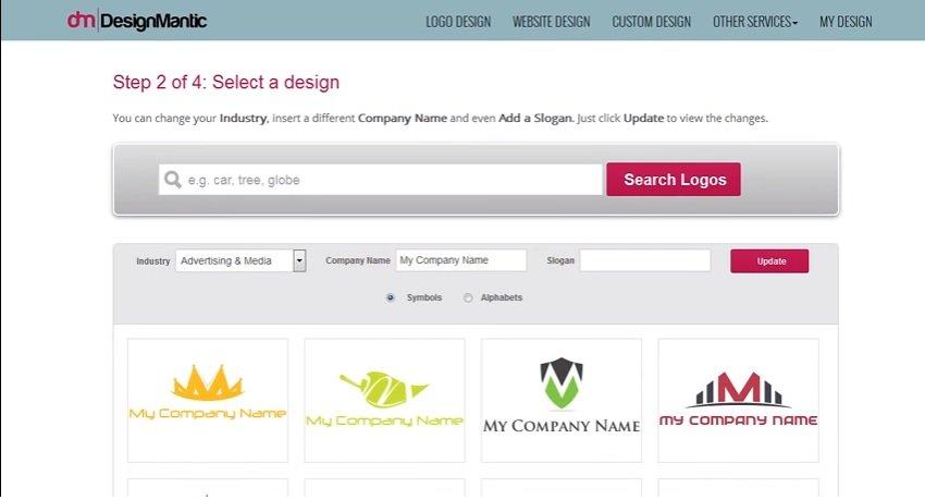 Design Mantic - criador de logo