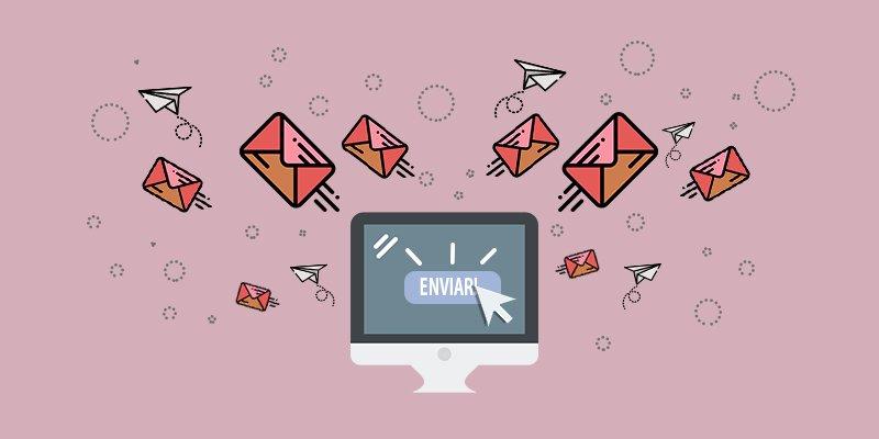 Ilustração de disparo de E-mails