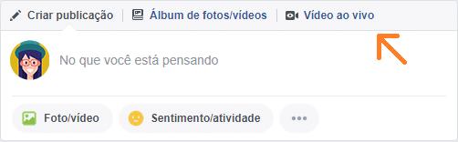 Facebook live para perfis