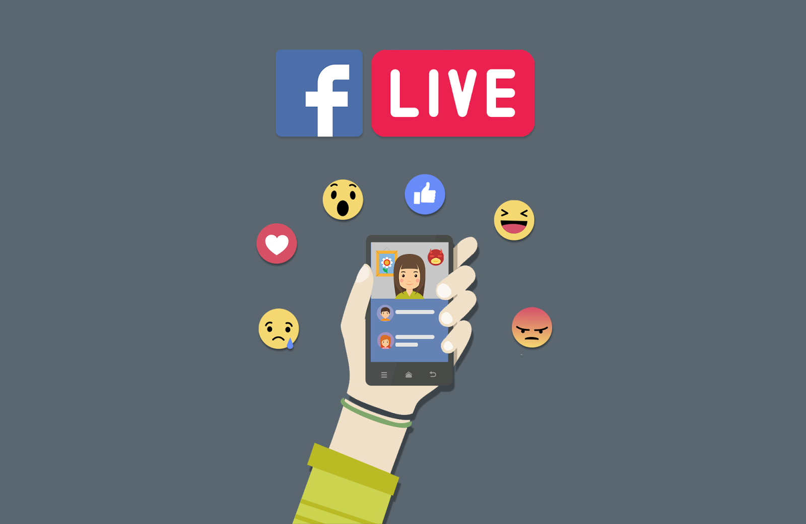Transmissão ao vivo no Facebook