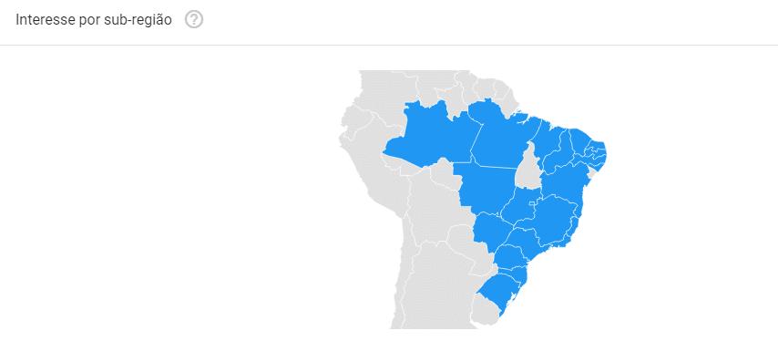 interesse por subregiao - google trends
