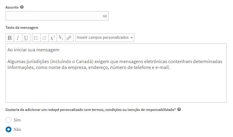 mensagem inmail - linkedin ads