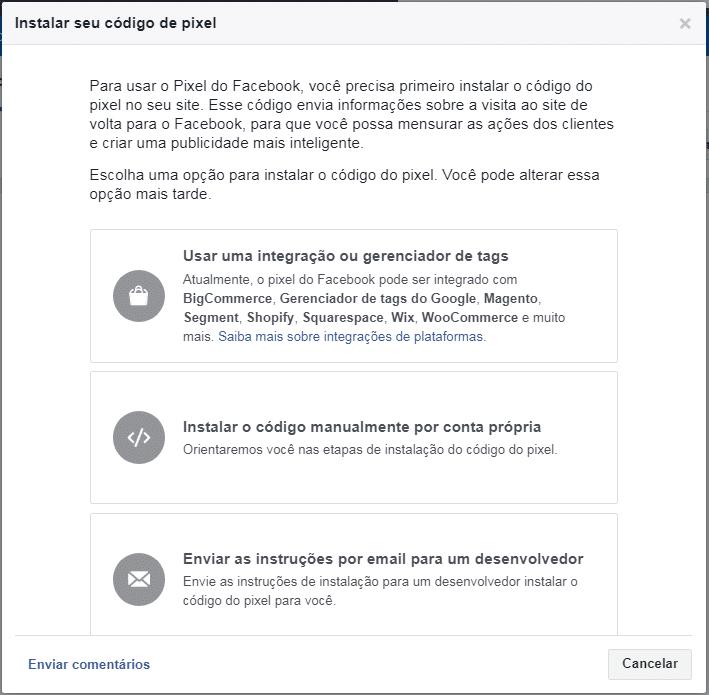 Como instalar o Pixel Facebook no meu site
