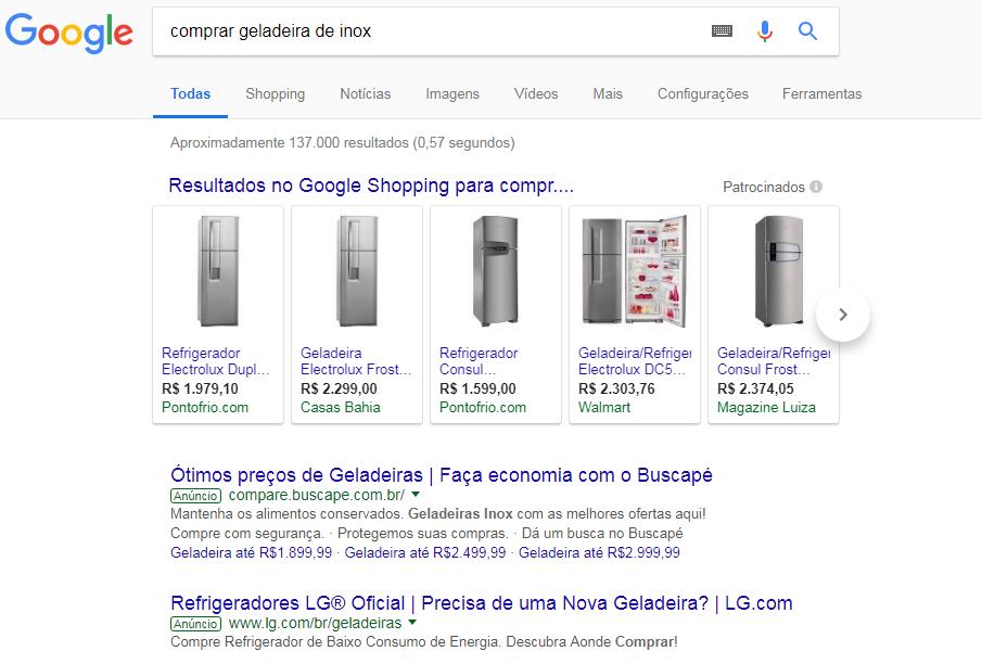 pesquisa por geladeira inox