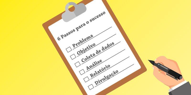 Monte em 6 passos o seu modelo de pesquisa de marketing