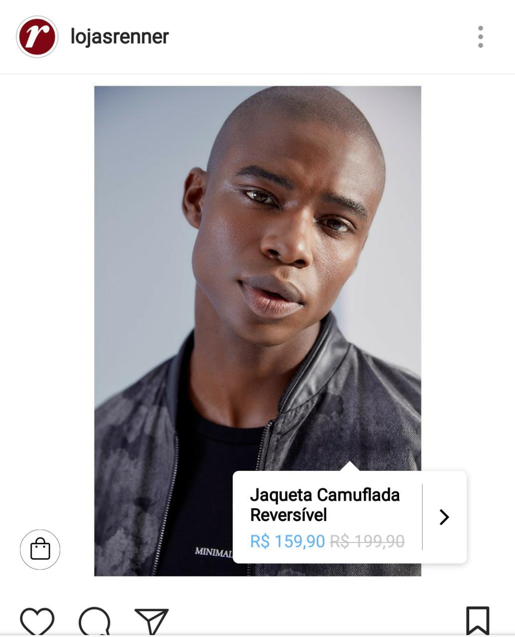 Nova atualização Instagram - exemplo