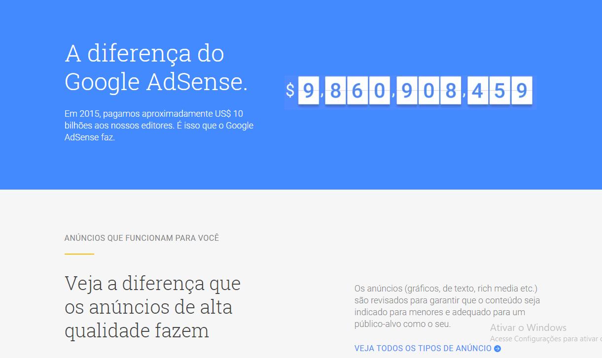 Conheça uma das ferramentas do Google, o Adsense