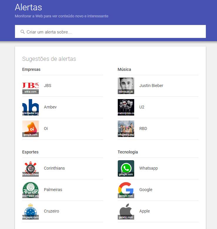 Conheça uma das ferramentas do Google, o Alerts