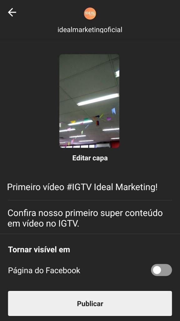IGTV - passo 5