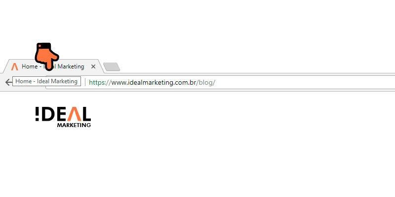 Veja uma title tag no navegador