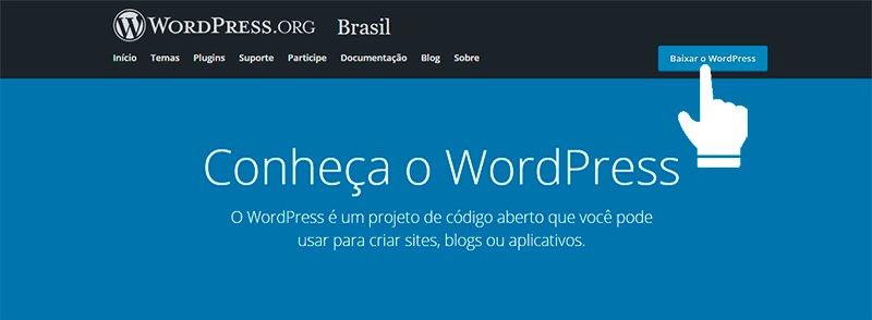 Saiba como baixar o blog WordPress