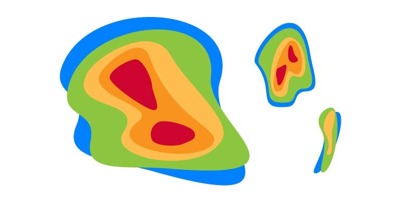 Veja um exemplo de mapa de calor