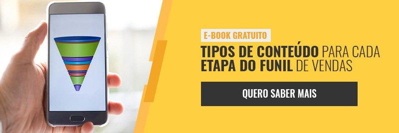 E-book - Tipos de conteúdo para cada etapa do funil