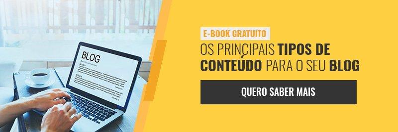 E-book - Os principais tipos de conteúdo para seu blog