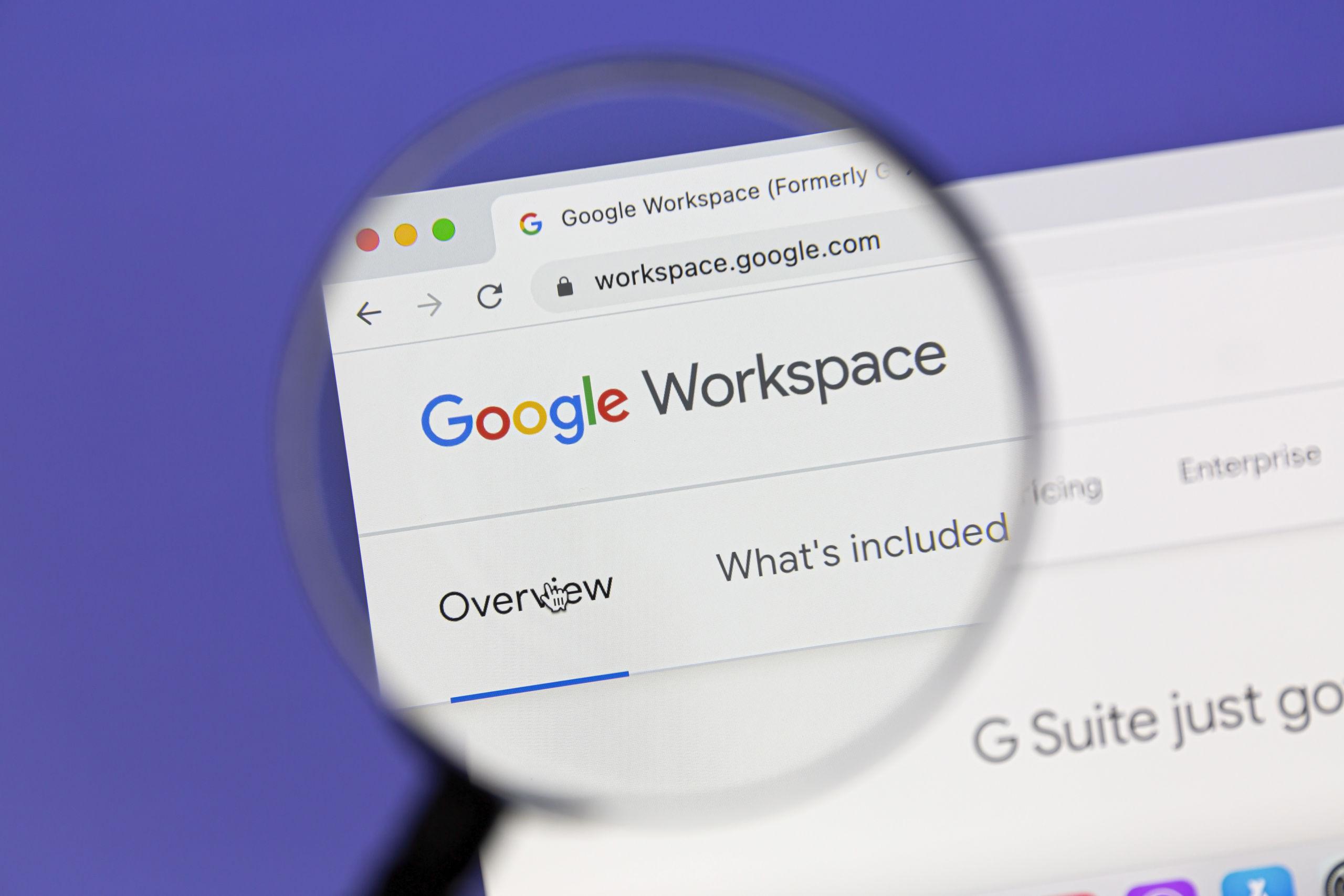 ferramentas do google workspace
